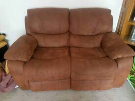 2 seater recliner sofa and free 3 seater recliner