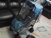 SPOTLESSLY CLEAN, OBABY PUSHCHAIR WITH WARM FLEECY FOOTMUFF & NEW RAINCOVER**FREE DELIVERY HULL**