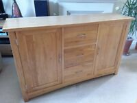 Brooklyn Solid Oak Sideboard, REDUCED, perfect condition