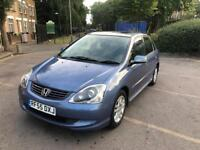 HONDA CIVIC 2005 LOW MILES AUTOMATIC 5 DOOR HATCHBACK WITH FULL SERVICE HISTROY AND MOT LOW MILES