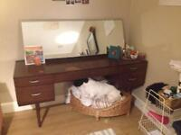 Stagg Vintage Mid Century Dressing Table with Mirror