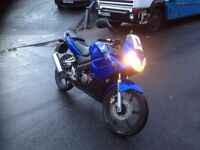 Honda cbr 125 blue