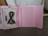 BNIB Pink folding protective case with a Bluetooth keyboard for IP mini/IP mini 2