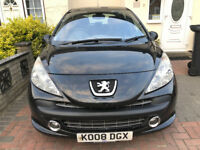 2008 PEUGEOT 207,5DOORS, 1.4 NEW MOT/honda jazz/toyota yaris/vw golf/audi a3/nissan note