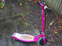 Pink electric razor 100 scooter