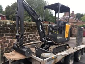 mini digger and driver hire liverpool