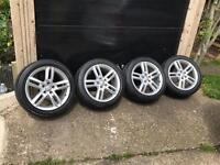 """Genuine Audi s-line 18"""" alloys with tyres 245/45/r18"""
