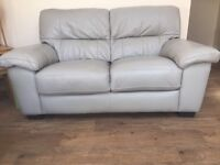 3 and 2 seater grey leather sofas. Only 1 year old excellent condition. Selling due to re decorating