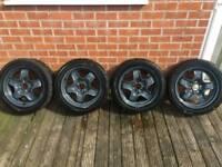 16 inch racing wheels with Yokohama racing profile tyres