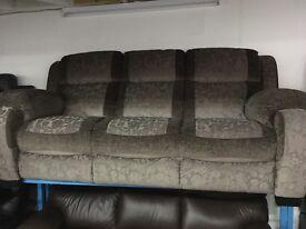 New / Ex Display - Sadera 3 Seater Fabric , High back Sofa