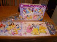 Disney Princess Bumper Puzzle Pack 4 x 100 piece
