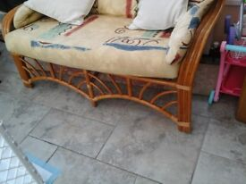 3 piece conservatory furniture plus free coffee table for sale in good condition.