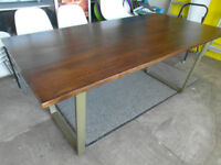 house of fraser large mahogany dining room table brand new,seats 6 to 8 stunning