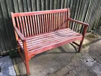 Bench solid wood