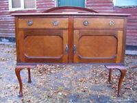 vintage sideboard TV stand dresser side cabinet old Georgian style wooden cupboard