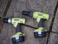 ryobi drills 3 batters and charger
