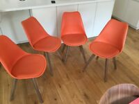 Set of 4 designer chairs