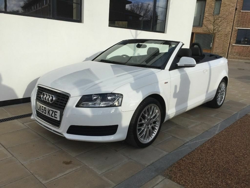 2009 audi a3 cabriolet 1.6 tdi cabriolet 2dr £30 tax in white