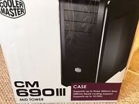 Cooler Master CM 690 III Advanced Mid Tower - with side Window - As New - £30