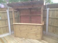 OUTDOOR TIMBER BAR - installed / delivered / oiled