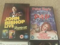 14 popular dvds including john bishop box set