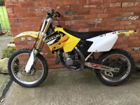 Suzuki rm125 2004 motocross Bike 125 mx dirt Ktm rm 125cc px swap for road legal 125