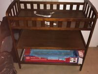 Babies Mahogany Wood Changing Table