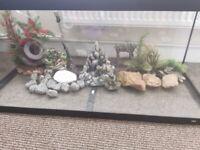 180l Juwel fish tank with light , decorations ,stones,rock ,pump and heater