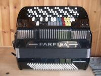 Farfisa Syntaccordion, 3 Voice, 5 Row, 'C' System, Chromatic Accordion With MIDI