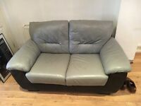 Sofa 2 seater grey and black