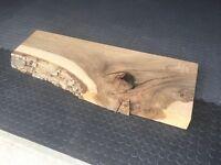 Walnut shelf, plank, harth, bathroom sink shelf