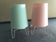 2 x Mink Table Lamps South Yarra Stonnington Area Preview
