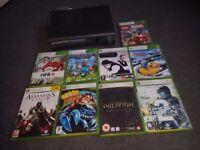 Xbox 360 Elite 120GB with 9 games
