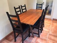 Walnut DiningTable &6chairs-excellent quality