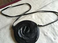 Ladies small round shoulder bag black from atmosphere £2