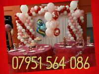 Party decoration/backdrop/balloon/sash/chair/baby/wedding/birthday/christening/christmas/new year/dj