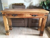 Handmade Oak Console Table. Can deliver.