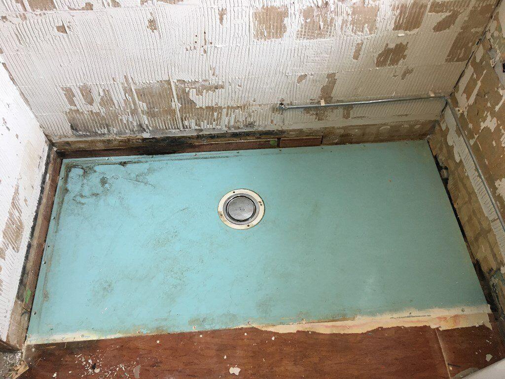Wetroom shower tray for under vinyl flooring or tiles for sale ...