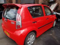 DAIHATSU SIRION SPORT 2005 59800 MILES 1.3 PETROL MANUAL 5 DOOR HATCHBACK RED