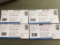 Pet Shop Boys Front Row Tickets Block B Row A Nottingham 22nd June. £40 each (Face Value £75)