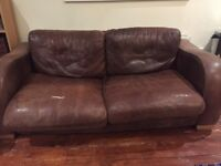 FREE! Vintage Brown Leather Sofa