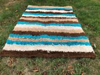 Striped rug, excellent condition