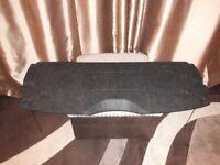 Peugeot 206 1998-2009 Parcel Shelf / Load Cover Colour: Black