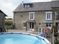 Farmhouse in Brittany France for up to 8 people from £350 with pool ***£100 off all June bookings***