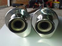 Aprilia Pegaso 660 Strada or Trail GPR stainless Silencers,exhaust cans
