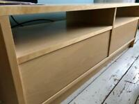 Ikea 'Benno' TV table stand storage unit (beech wood)
