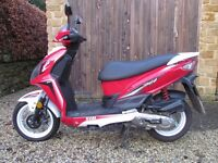 SYM Jet4 50cc Moped 12 months old 65' plate