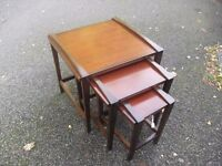 Lovely Mahogany Nest Of 3 Side Tables