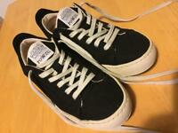 Vegan ethical trainers, brand new, black, size 4/37.