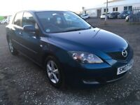 2007 Mazda 3 1.6 , mot - February 2019 , only 74,000 miles , 2 owners ,focus,astra,civic,megane,207